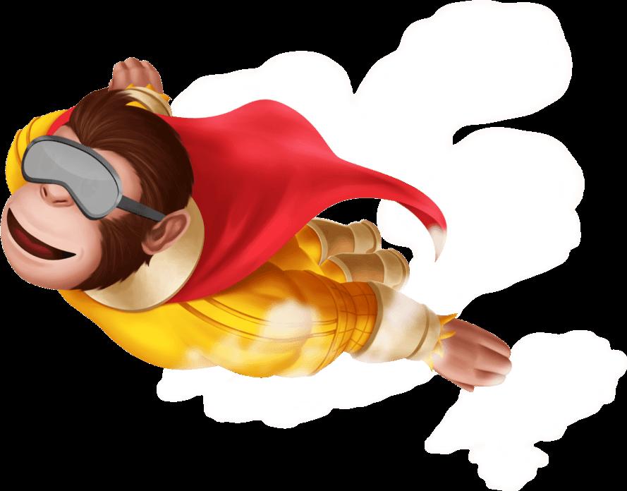 kimp-flying